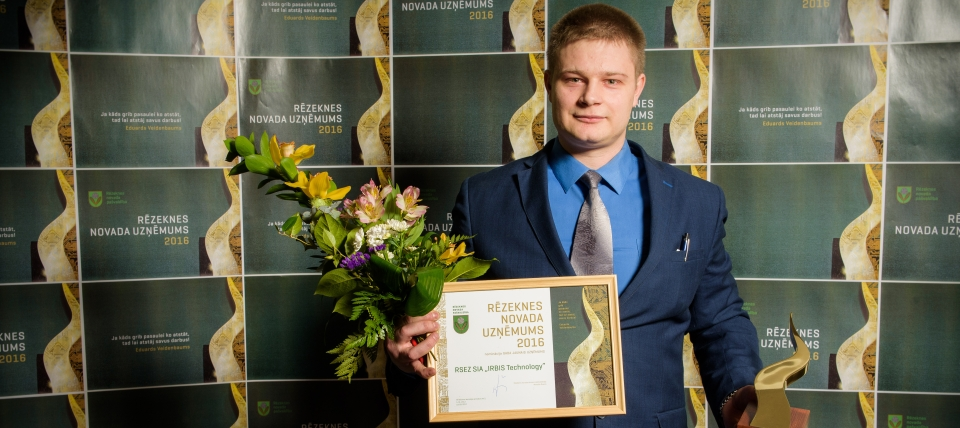"Awards granted to the winners of the competition ""Entrepreneur of Rēzekne Municipality 2016"""